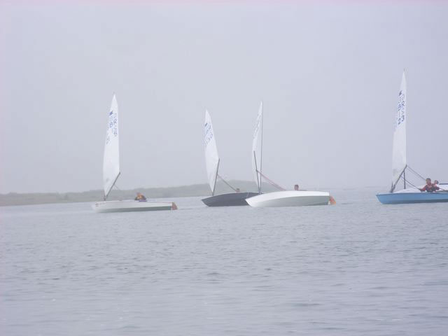 Paul Pike leads down the first downwind leg